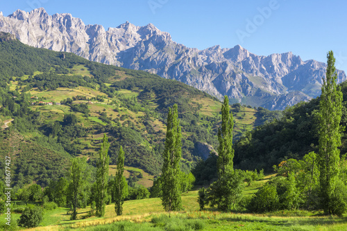 Picos de Europa mountains next to Fuente De village, Cantabria (Spain)