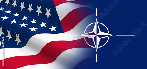 The concept of political relationships the United States with NATO Wallpaper Mural