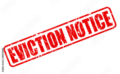 EVICTION NOTICE red text Wallpaper Mural