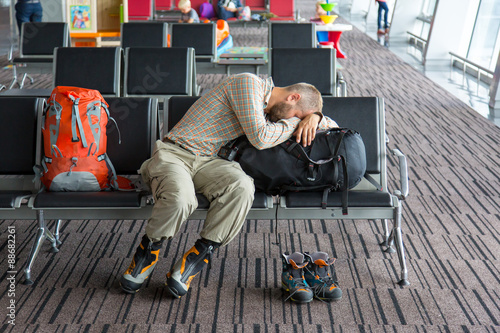 Fotografie, Obraz  Airport lounge and people waiting for boarding