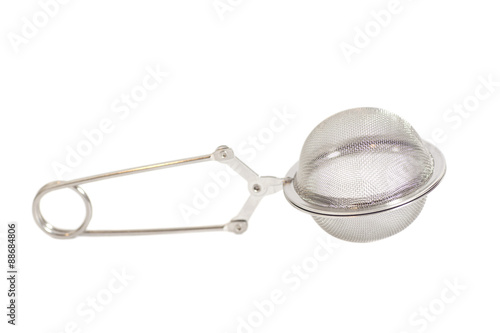 Fényképezés  Tea-strainer isolated on white background
