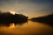 Rising Sun In Manu Jungle Peru