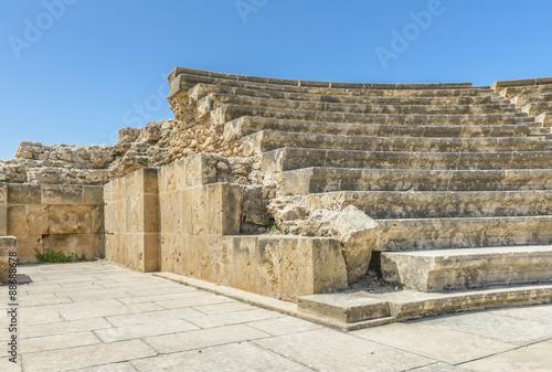 Foto op Aluminium Rudnes Ancient stone amphitheater ruins in Paphos, Cyprus.