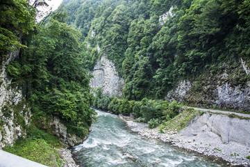 Fototapeta na wymiar Mountain river