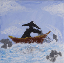 Painting Of A Fisherman Castin...
