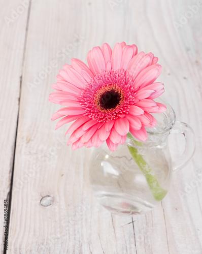Foto op Aluminium Gerbera Flower pink gerbera in a glass vase