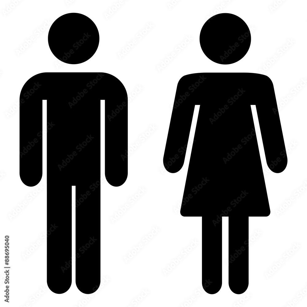 Fototapeta Toilettensymbol