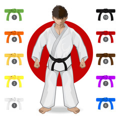 Fototapeta Sztuki walki KARATE Martial Art Belt Rank System