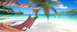 canvas print picture - tropische Urlaubsreise