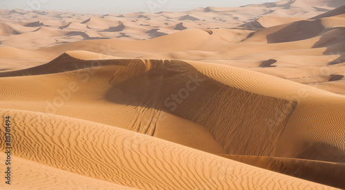 Photo  Sand dunes in Dubai desert