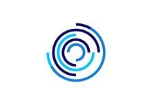 Circle,logo,sphere,globe,stripe,floral,circular,media,business,modern Symbol Icon Vector Design