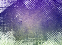 Messy Grunge Green And Purple Background Paper With Textured Abstract White Grid Pattern Border In Random Layers