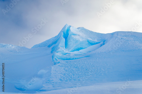 Blue Ice Mountain Peak
