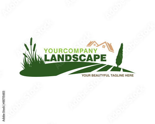 Canvas Prints White landscape logo 1