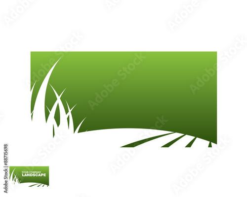 Fotobehang Wit landscape logo 3