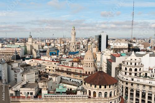 fototapeta na szkło Microcentro, Ausblick über Buenos Aires Argentinien