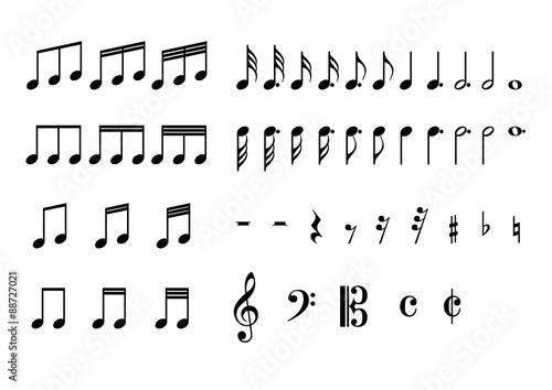 Cuadros en Lienzo  音符 記号