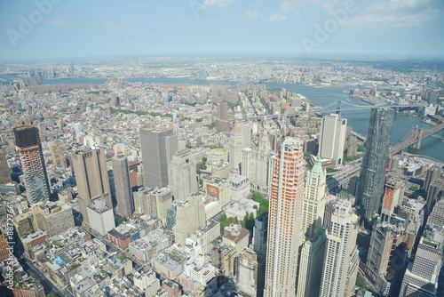 new york from one world tower Poster