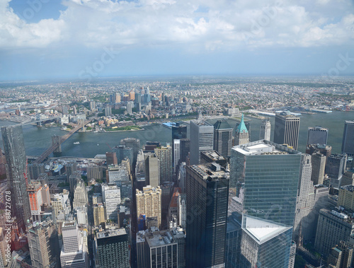 new york from one world tower плакат