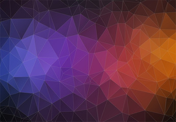 Modern Triangle 2D geometric colorful background