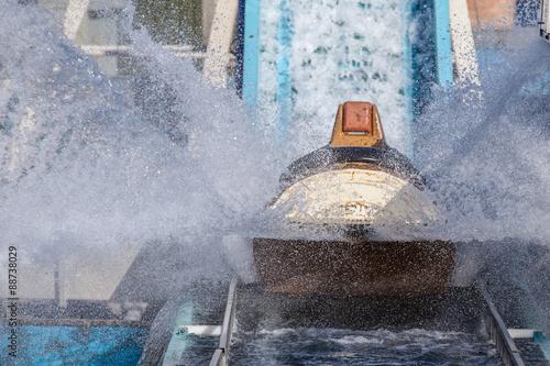 Fotografie, Obraz  Lof flume splash