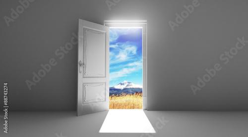 Porta aperta su campagna Slika na platnu