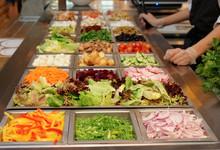 Salad Bar With Various Fresh V...