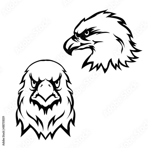 Fototapety, obrazy: Eagles head logo emblem template set mascot symbol for business