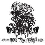 Fototapeta Młodzieżowe - Vector Graffiti Tags - writing