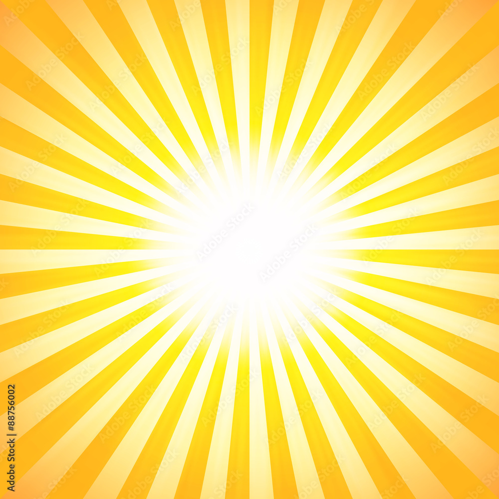 Fototapety, obrazy: Shiny summer lights, starburst & sunburst background