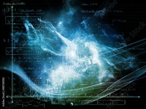 Fototapeta Glow of Numbers obraz na płótnie