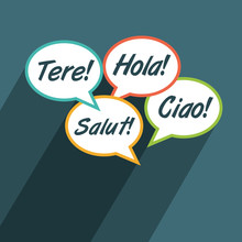 Multilingual Environment Illustration