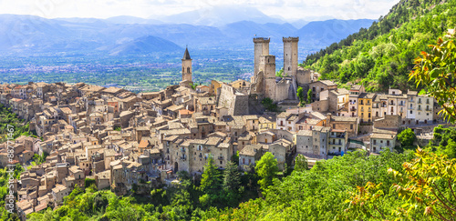 beautiiful medieval villages of Italy - Pacentro (Abruzzo) Wallpaper Mural