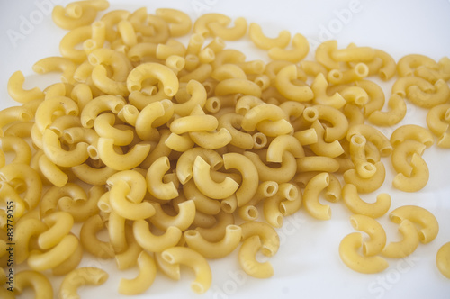 Fotografie, Obraz  Macaroni is a dry pasta and made of durum wheat, usually no egg