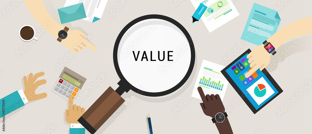 Fototapeta value proposition customer concept vector icon illustration