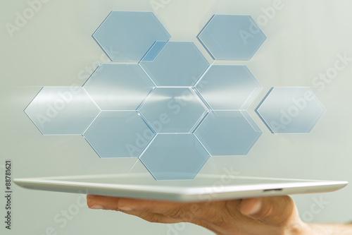 Foto  interface hightech