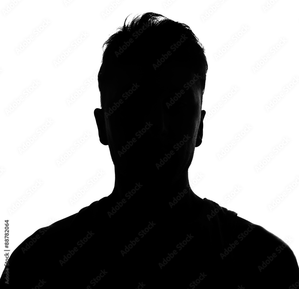 Fototapety, obrazy: Male person silhouette