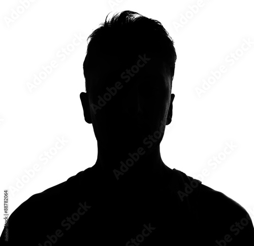 Photo  Male person silhouette
