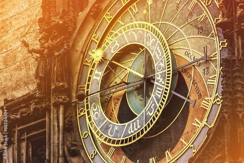 Astronomical Clock on Prague Old Town Square Poster