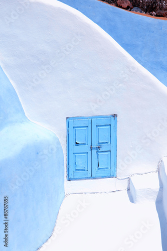 Fototapety, obrazy: Detail of the typical blue and white house in Oia, Santorini