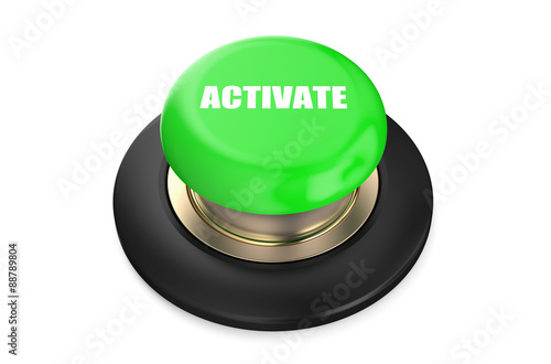 Activate green button Canvas Print
