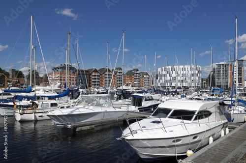 Fotografia Yachts in Ipswich marina