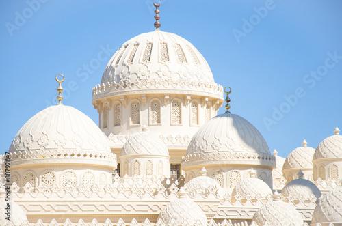 Domes on Roof of El Mina Masjid Mosque, Hurghada, Egypt