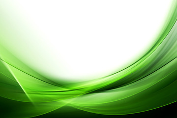 green abstract wave background