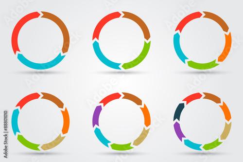 Fotografía  Vector circle arrows for infographic.
