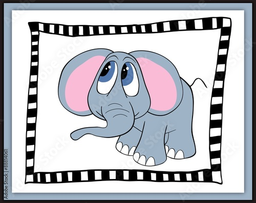 piekna-karta-z-kreskowka-slonia