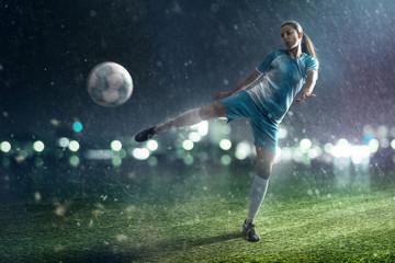 Fototapeta na wymiar Soccer Woman