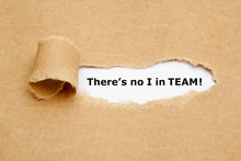 There's No I In TEAM