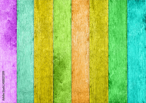 Fototapeta kolorowe deski  obraz