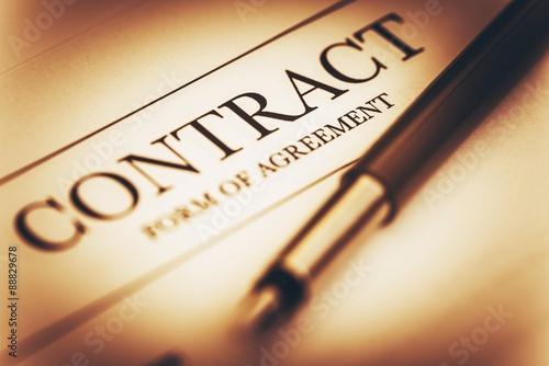 Fotografía  Concepto de firma de contrato